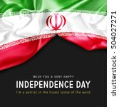 wish you a very happy iran... | Shutterstock . vector #504027271