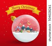 transparent christmas ball on... | Shutterstock .eps vector #504028261