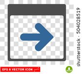 vector next calendar day eps... | Shutterstock .eps vector #504028519