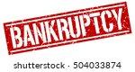 bankruptcy. grunge vintage... | Shutterstock .eps vector #504033874
