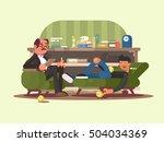 psychologist man in office | Shutterstock .eps vector #504034369
