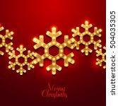 christmas background. retro... | Shutterstock .eps vector #504035305