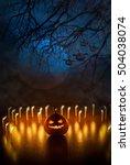 Ghost Pumpkins On Halloween ...