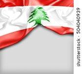 lebanon country flag on white... | Shutterstock . vector #504040939