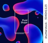 fluid colors shape on black.... | Shutterstock .eps vector #504041125