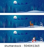 vector drawing of christmas... | Shutterstock .eps vector #504041365