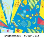 geometric elements in the... | Shutterstock .eps vector #504042115