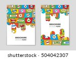 abstract vector layout... | Shutterstock .eps vector #504042307
