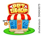 pet shop. store building with... | Shutterstock .eps vector #504043075