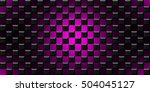 black and purple cubes modern... | Shutterstock . vector #504045127