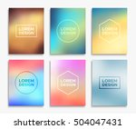 brochure flyer layouts in a4... | Shutterstock .eps vector #504047431
