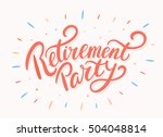 retirement party banner. | Shutterstock .eps vector #504048814