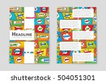 abstract vector layout... | Shutterstock .eps vector #504051301