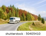 road in nizke tatry  low tatras ... | Shutterstock . vector #50405410