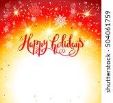 christmas greeting card | Shutterstock .eps vector #504061759