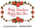 merry christmas festive frame   Shutterstock .eps vector #504061849