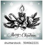 christmas decoration  | Shutterstock .eps vector #504062221
