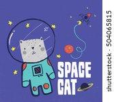 Cat Vector Design For Baby Tee...