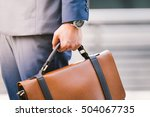 closeup of a businessman... | Shutterstock . vector #504067735