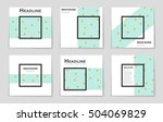 abstract vector layout... | Shutterstock .eps vector #504069829