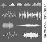 vector sound waveforms. sound... | Shutterstock .eps vector #504070147