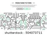 illustration of vector modern... | Shutterstock .eps vector #504073711