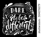 dare to be different... | Shutterstock .eps vector #504078379