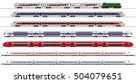 passenger express train.... | Shutterstock .eps vector #504079651