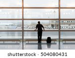 man with his backpack waiting... | Shutterstock . vector #504080431