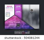 vector brochure template ...   Shutterstock .eps vector #504081244