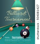 billiards tournament flyer ... | Shutterstock .eps vector #504081427