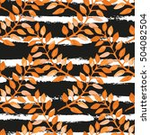 elegant seamless pattern with... | Shutterstock .eps vector #504082504