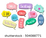 photo booth props colors text... | Shutterstock .eps vector #504088771