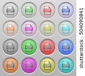 gzip file format plastic sunk... | Shutterstock .eps vector #504090841