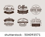 vintage logo. coffee shop... | Shutterstock .eps vector #504093571