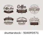 vintage logo. coffee shop... | Shutterstock .eps vector #504093571