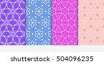 seamless floral patterns set....   Shutterstock .eps vector #504096235