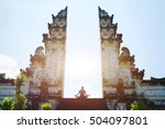 yoga in bali  meditation in the ... | Shutterstock . vector #504097801