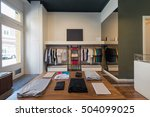 interior of modern urban... | Shutterstock . vector #504099025