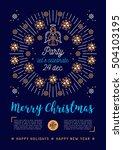 christmas poster  holiday xmas... | Shutterstock .eps vector #504103195