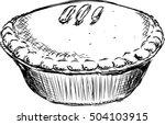 a sketch of a pie. | Shutterstock .eps vector #504103915