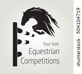 Stock vector equestrian competitions vector illustration of horse poster 504104719