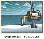 vintage deep sea fishing... | Shutterstock .eps vector #504108655