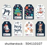 christmas and new year gift... | Shutterstock .eps vector #504110107