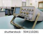 Small photo of Oscilloscope in table laboratory