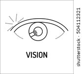 vision line icon | Shutterstock .eps vector #504112321