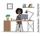 business woman working. office... | Shutterstock .eps vector #504113245