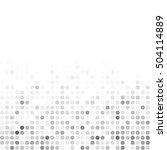 gray white random dots... | Shutterstock .eps vector #504114889