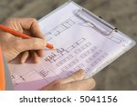 engineer making changes to the... | Shutterstock . vector #5041156