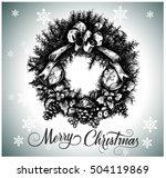 vector hand drawn christmas... | Shutterstock .eps vector #504119869